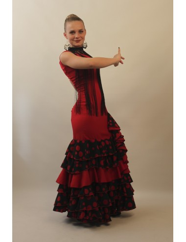 Robe Gitane rouge et noire Nella