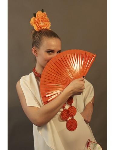 Eventail de flamenco bois uni 23 cm