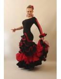 Robe de Flamenco noire et rouge Mischa