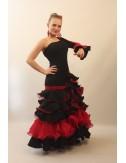 Trajes de Flamenca rojo y negro Mischa