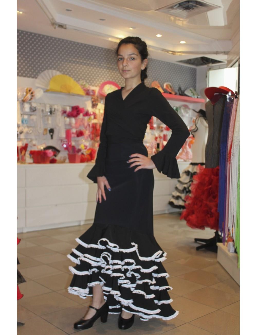 Jupe de flamenco artisanale enfant Kelyane