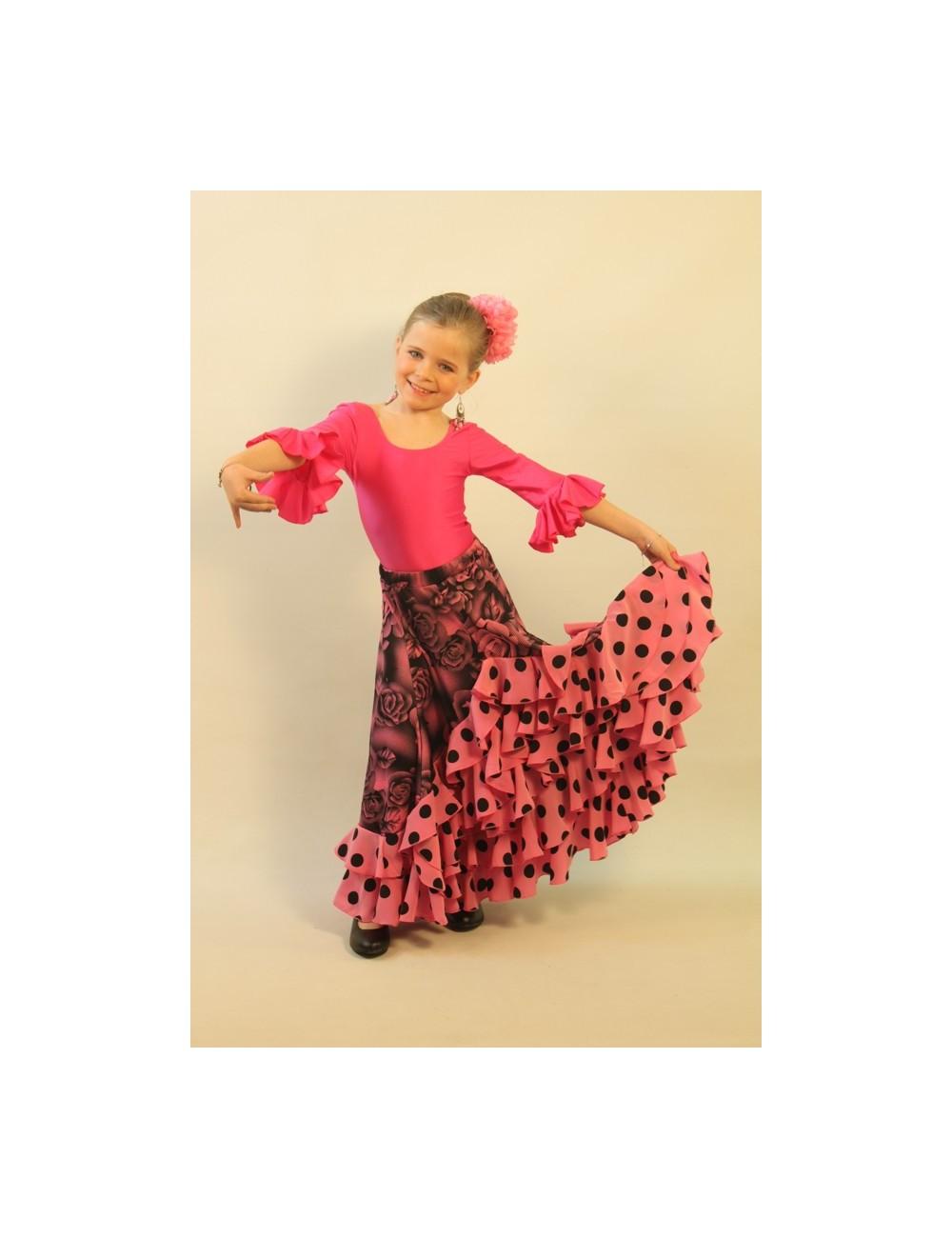 Jupe de flamenco fille Shiva