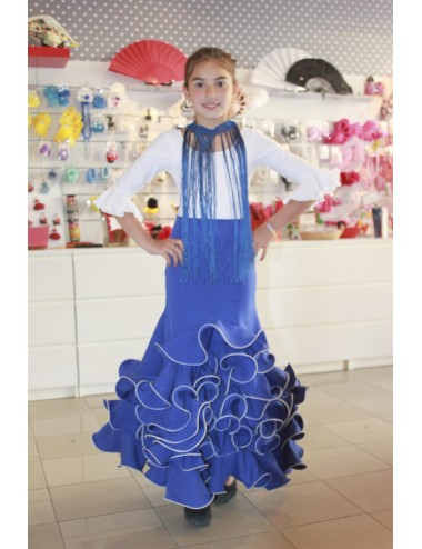 Jupe flamenco enfant Cordou Blue