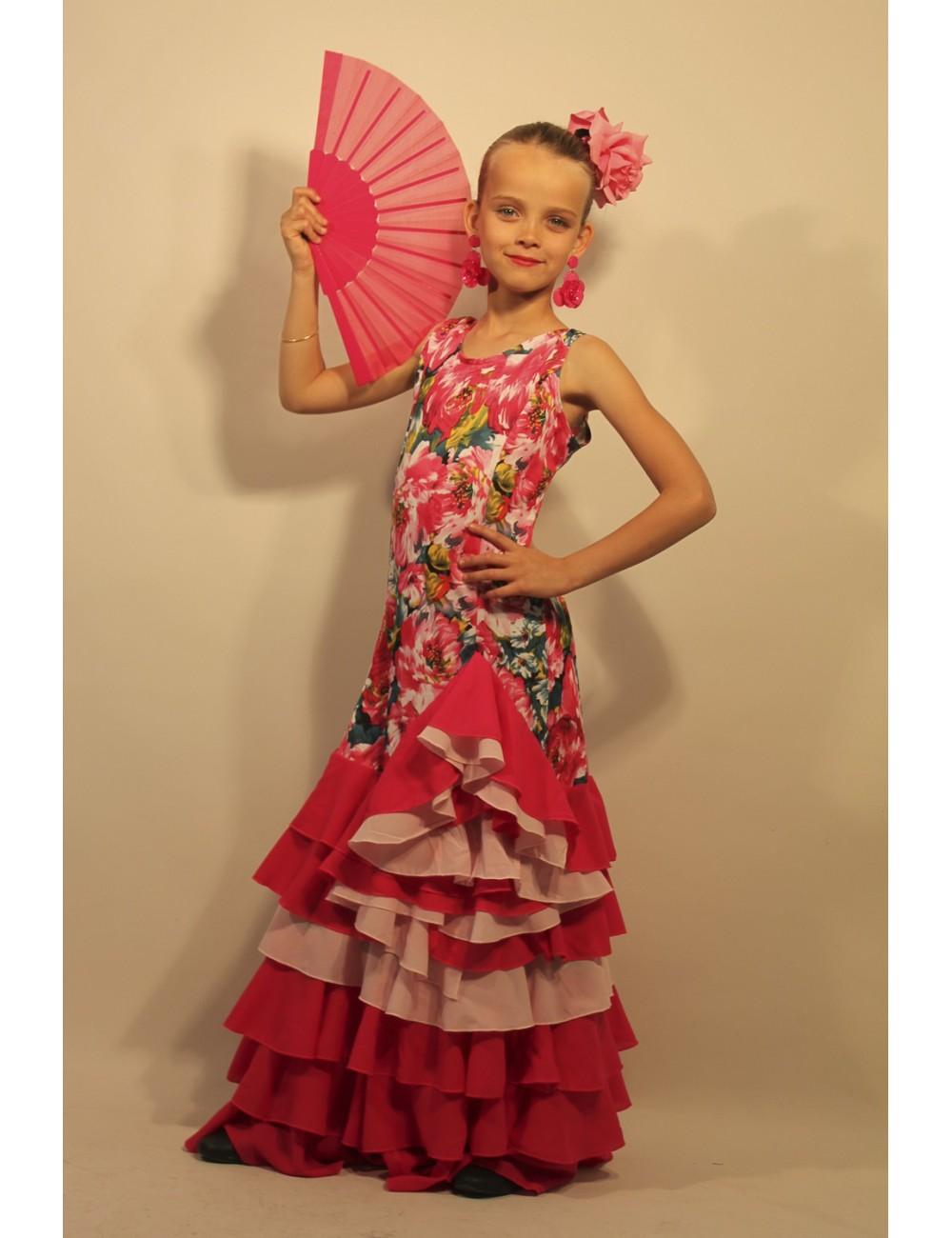 Robe de flamenco Flora fuschia