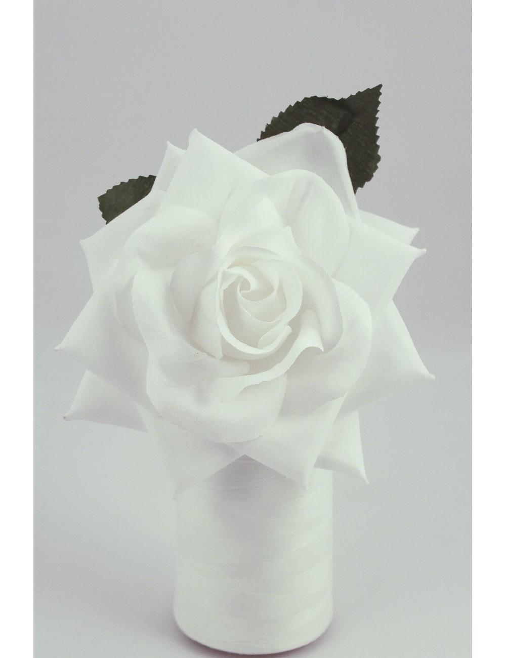 Rose de flamenco à tige 15 cm