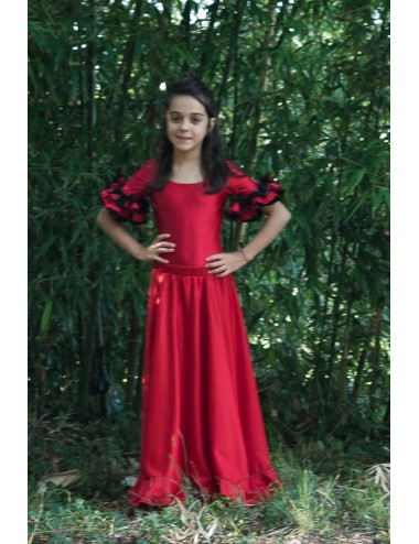 Kit Jupe et body flamenco Roja 1 V