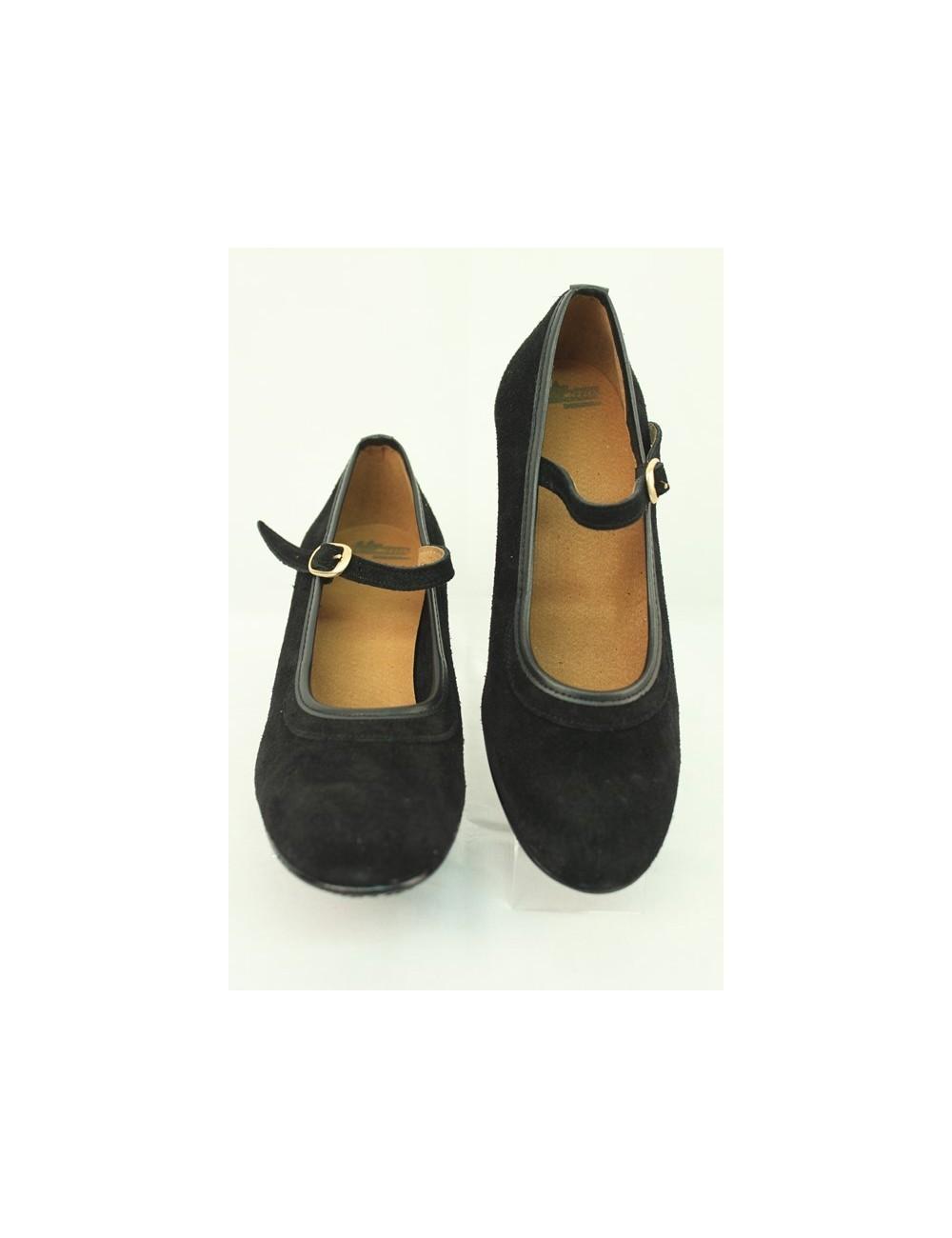 Chaussures Noire Cuir Daim ou Ante Negro