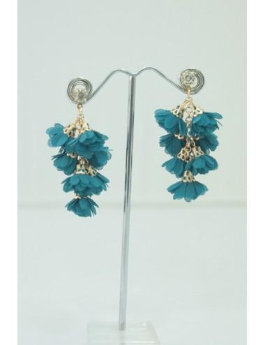 Boucles d'oreilles Grappa bleu vert