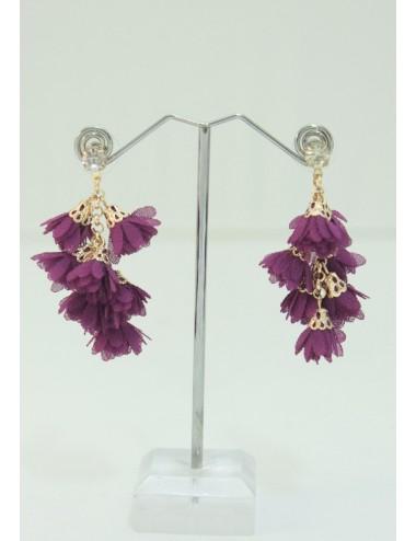 Boucles d'oreilles Grappa violet