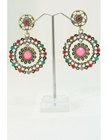 Boucles d'oreilles flamenco multicolor