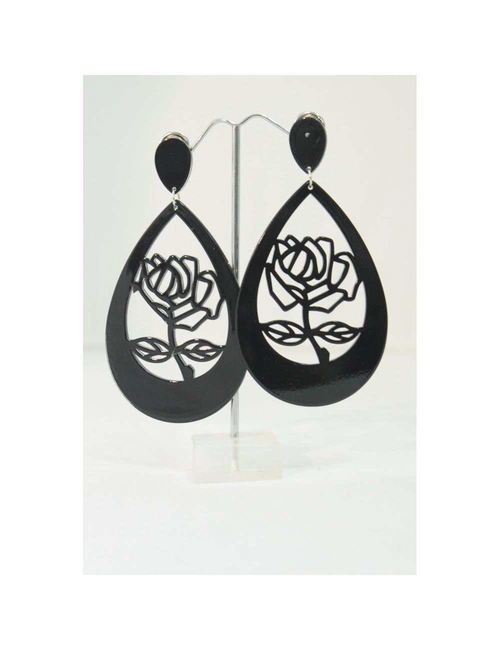Boucles d'oreilles Créoles Rose