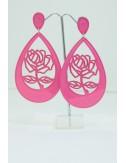 Boucles d'oreilles roses ,rose fuchsia