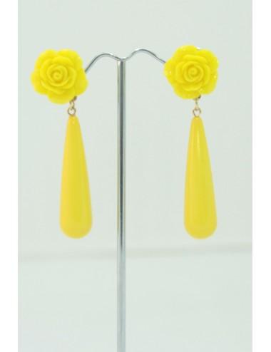 Boucles d'oreilles goutte jaune