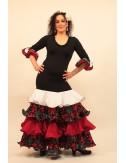 Robe Espagnole noire et rouge Duna