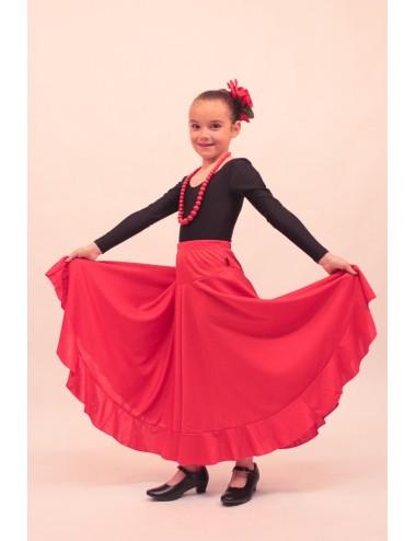 Jupe de répétition flamenco fille Roja