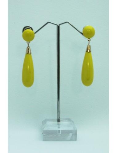 Boucles Goutte 2 jaune