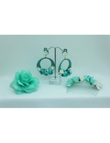Kit Peigne fleuris Vert