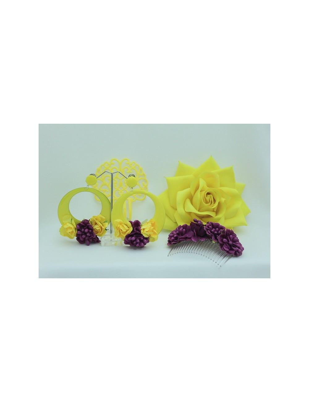 Kit Peigne fleuris Lila