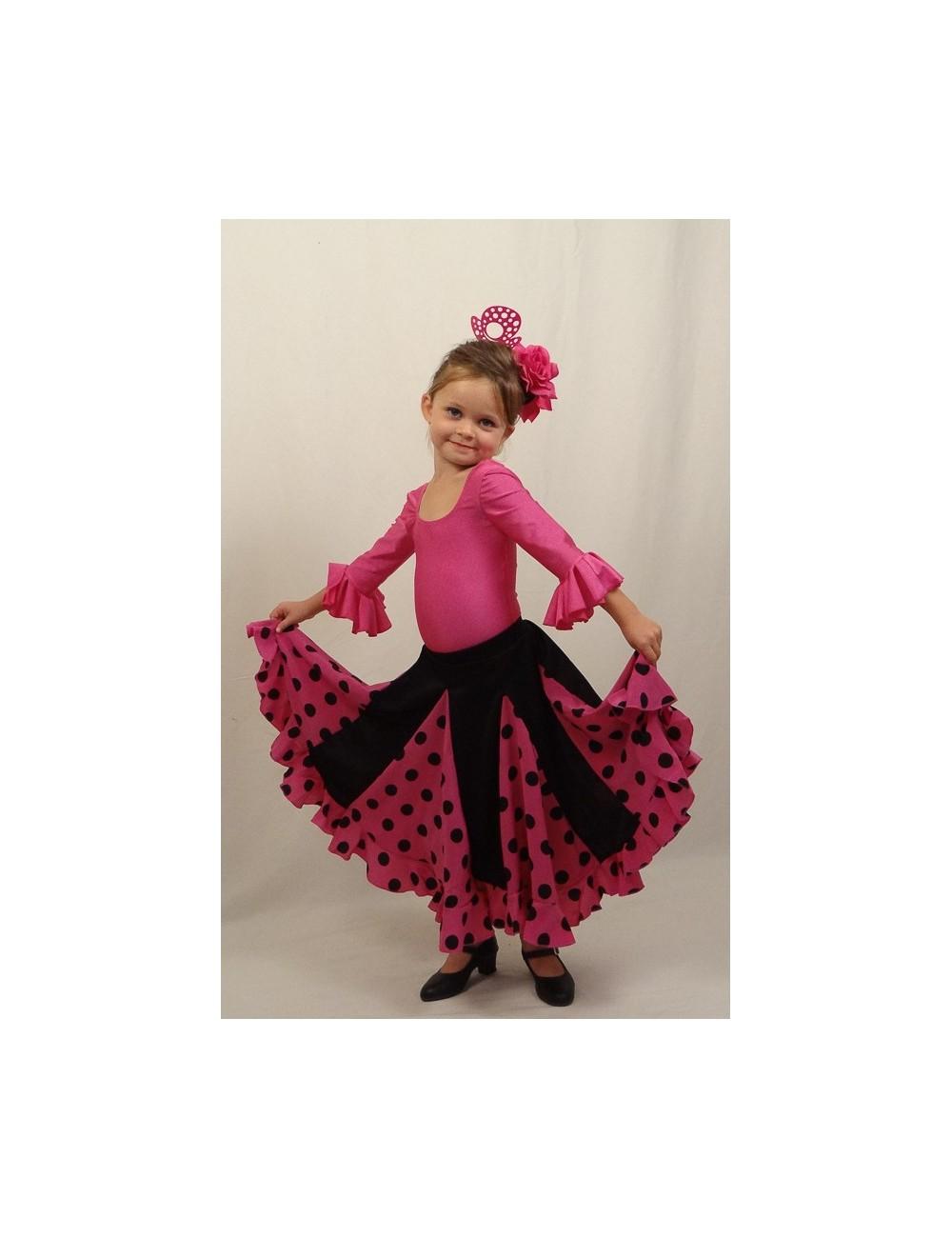 "Kit 1 Jupe ""espagnole"" fille Mélodia Rosa"