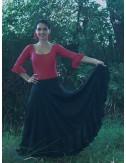 Falda flamenca Negra