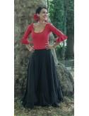 Kit tenue de danse flamenco jupe+body