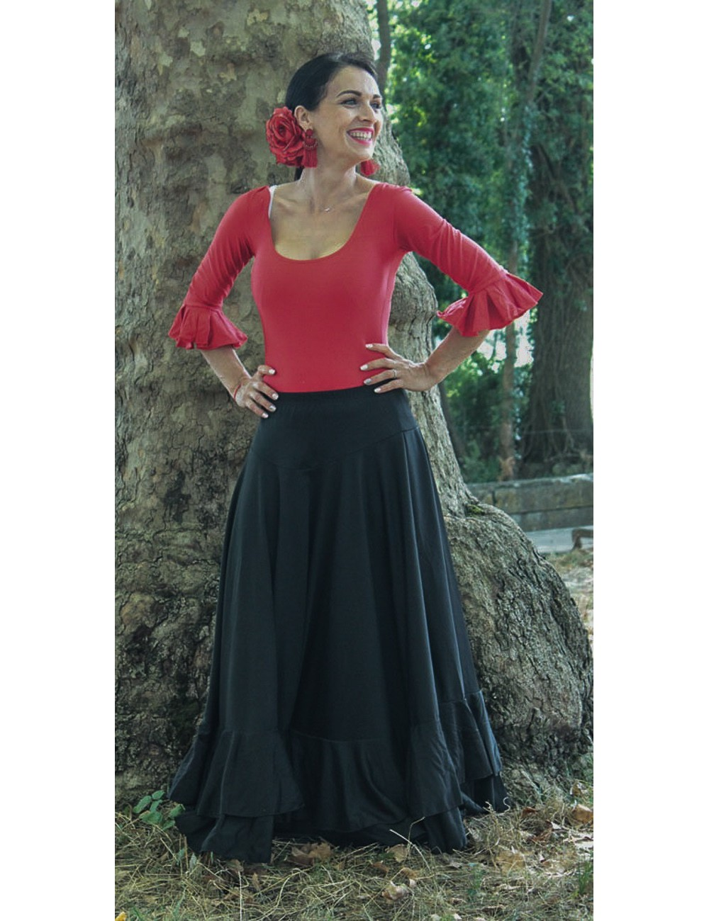 Kit tenue de danse flamenco jupe+body-1