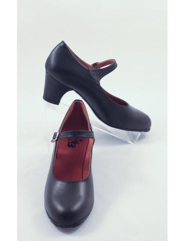 Chaussures Noire Cuir Flamenco