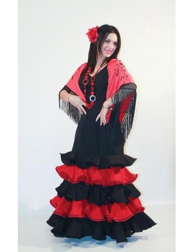"Robe ""Espagnole"" Noir Rouge Shame"