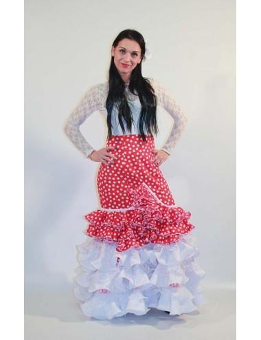 Jupe flamenco Cordou Punto blanco