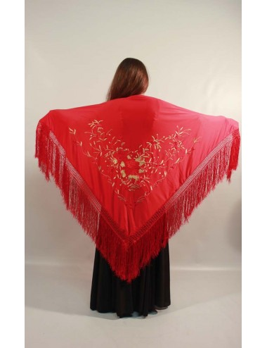Rojo bordado Multicolor P