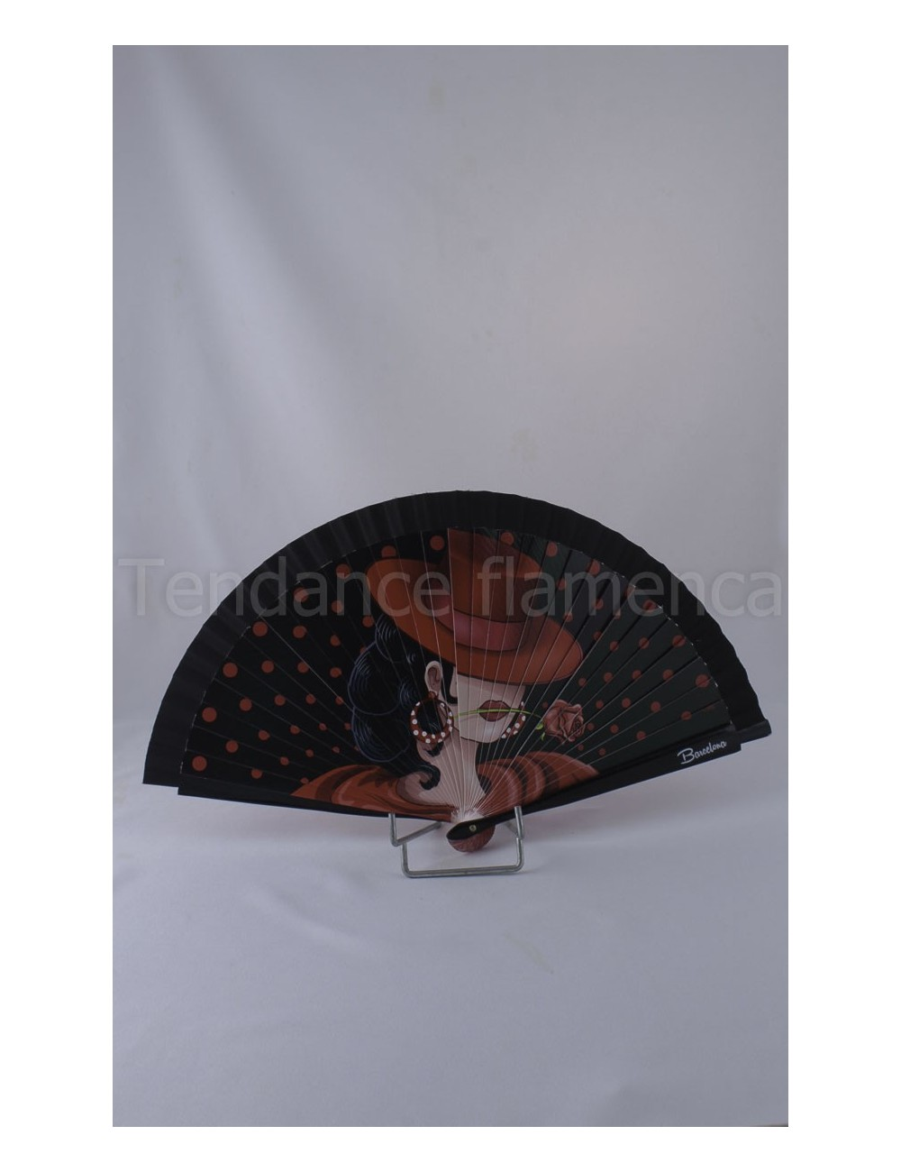 Eventail flamenco danseuse
