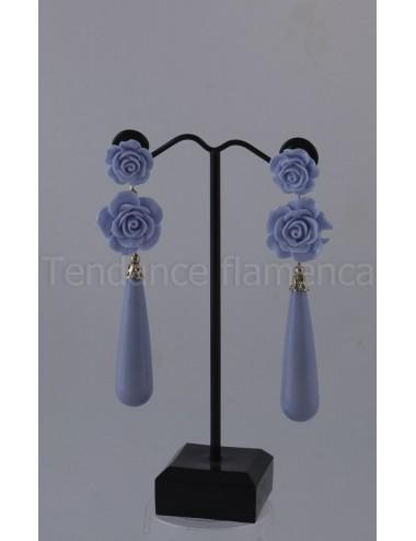 Boucles d'oreilles  bleu ciel