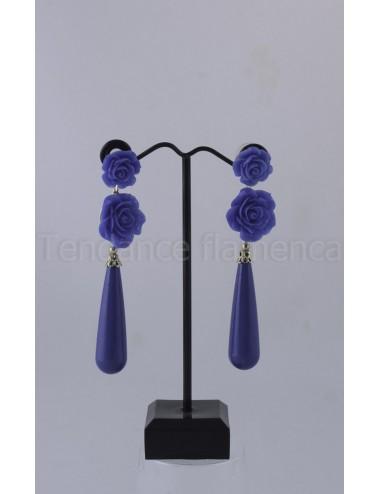 Boucles d'oreilles  bleu roy