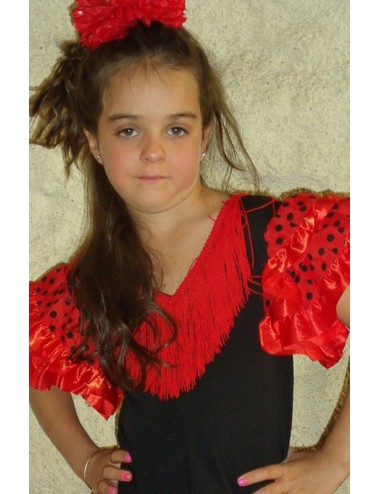 Déguisement Robes Rouge pois Noir
