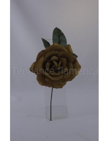 Rose de flamenco à tige 16 cm camel