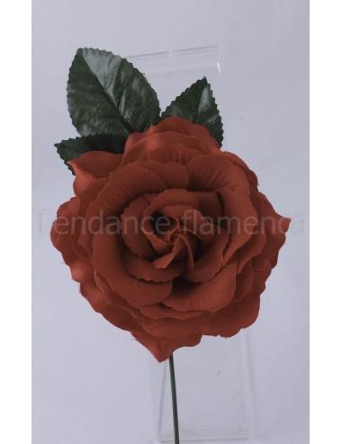 Rose de flamenco à tige 16 cm rouge