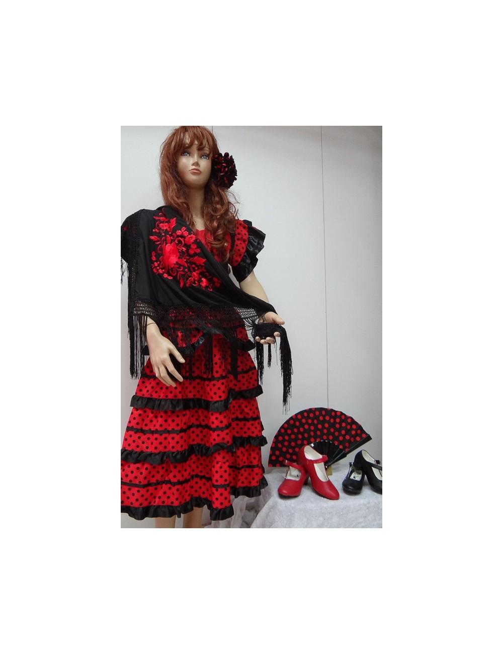 Kit Déguisement robe flamenco & accessoires 8