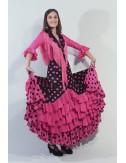Jupe de flamenco rose Madrilène 2