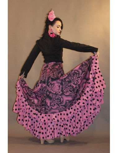Jupe Flamenco rose Yoremy Shiva-11