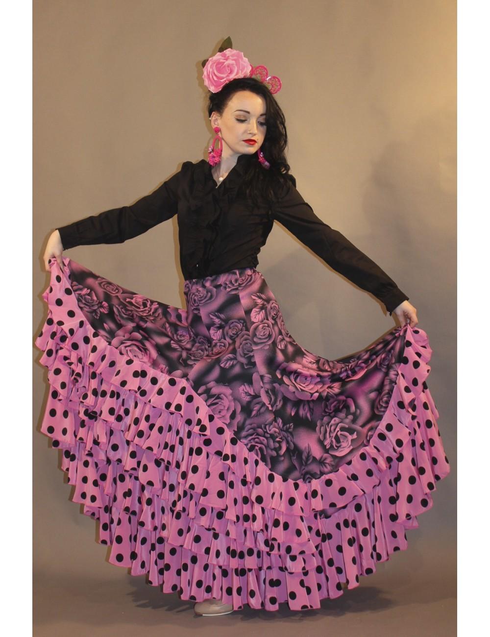 Jupe Flamenco rose Yoremy Shiva-12