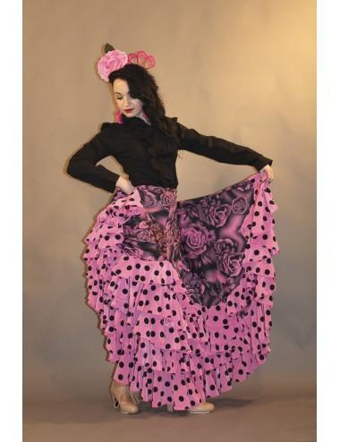 Jupe Flamenco rose Yoremy Shiva-13