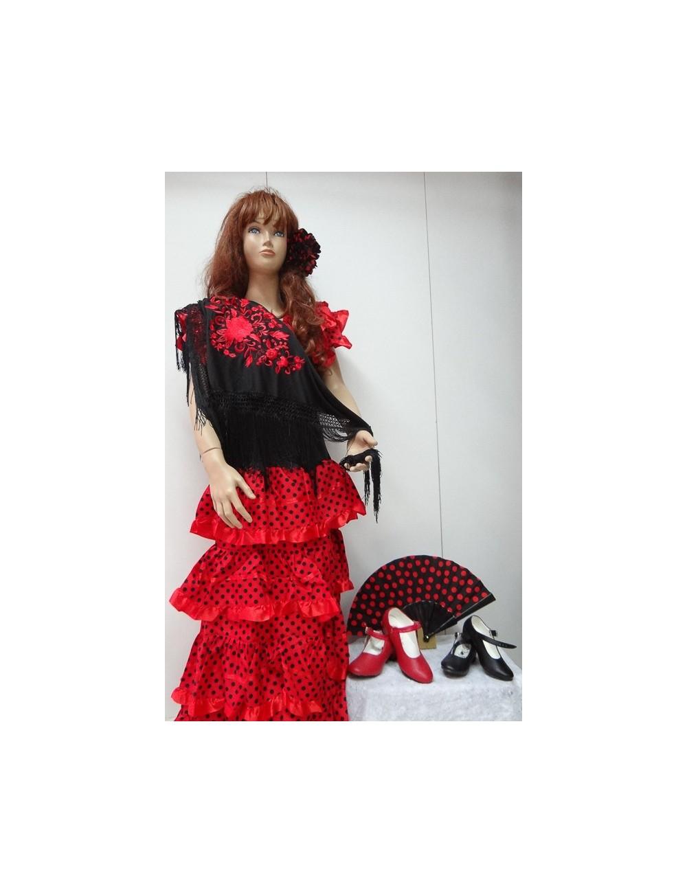 Kit Déguisement robe flamenco & accessoires 2
