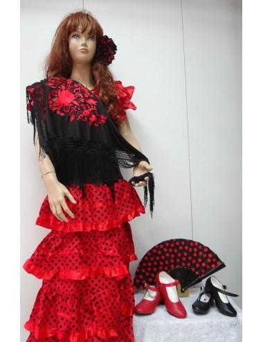 Kit Déguisement robe flamenco & accessoires 3