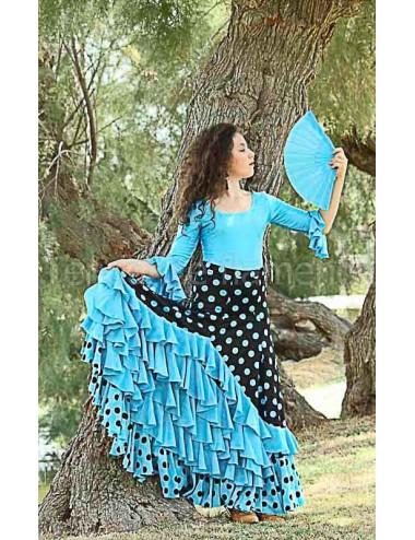 Falda flamenca Turquessa