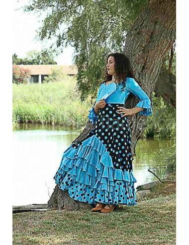 Jupe de Flamenco Turquessa 3