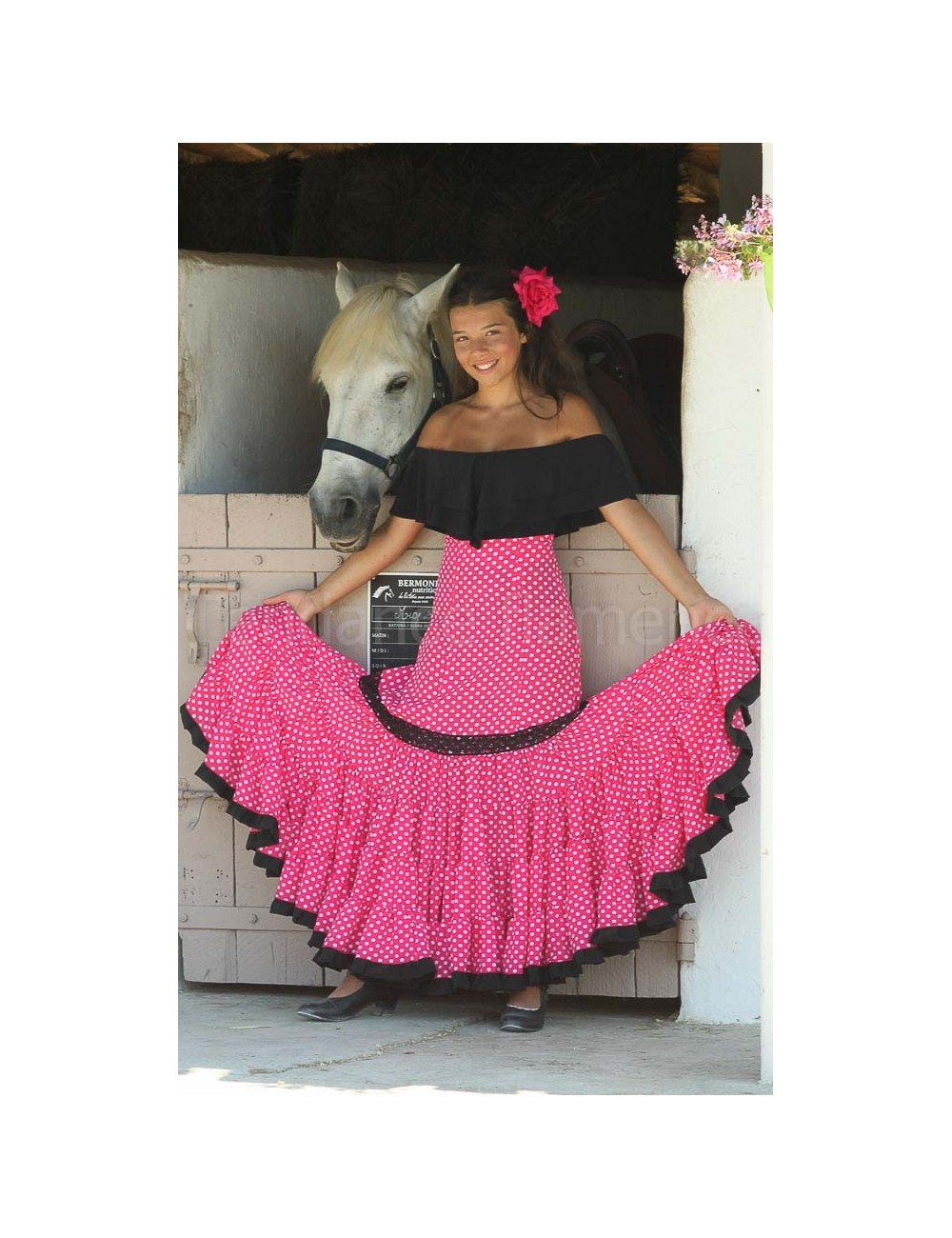 Jupe flamenco Paloma Rose