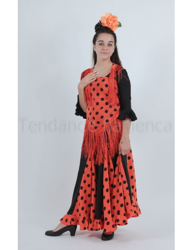 Jupe flamenco Mélodia orange-3