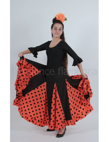 Jupe flamenco orange