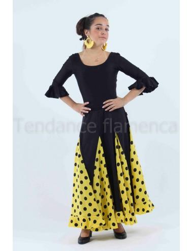 Jupe de flamenco Mélodia Jaune