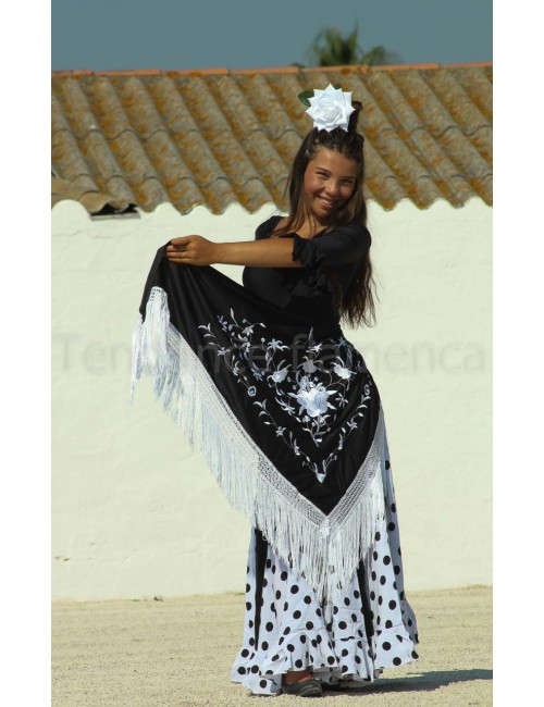 Jupe flamenco Mélodia Blanca